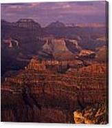 South Rim Grand Canyon Taken Near Yavapai Point Sunset Light On  Canvas Print