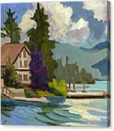South Shore Big Bear Lake Canvas Print