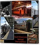 South Shore Line Railroad Collage Canvas Print