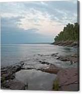 South Shore Of Lake Superior Canvas Print