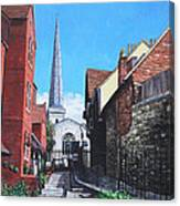 Southampton Blue Anchor Lane Canvas Print