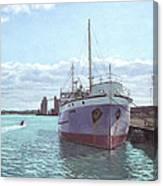 Southampton Docks Ss Shieldhall Ship Canvas Print