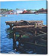 Southampton Northam River Itchen Old Jetty With Sea Birds Canvas Print