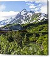 Southbound Alaska Railroad  Canvas Print
