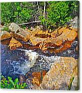 Southeast Brook Above Falls In Gros Morne Np-nl Canvas Print