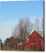 Southeast Red Barn Canvas Print