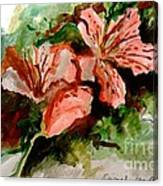 Southern Azalea In New Orleans Canvas Print