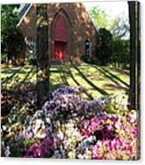Southern Church In Bloom Canvas Print
