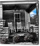 Southern Front Porch 1 Canvas Print