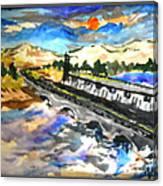 Southern River Dam Canvas Print