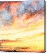 Southern Sunset - Digital Paint Iv Canvas Print