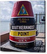 Southernmost Point Marker Canvas Print
