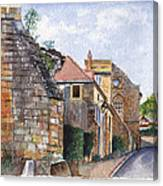 Souvigny Eclectic Architecture In A Village In Central France Canvas Print