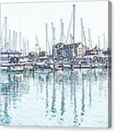 Soveriegn Harbor In Pencil Canvas Print