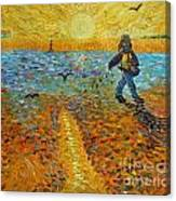 Sower Of Squiggles Canvas Print