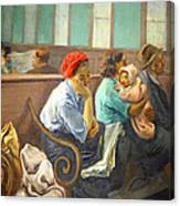 Soyer's A Railroad Station Waiting Room Canvas Print