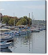 Sozopol Harbour Bulgaria. Canvas Print