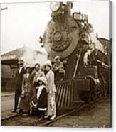 S P Baldwin Locomotive 2285  Class T-26 Ten Wheel Steam Locomotive At Pacific Grove California 1910 Canvas Print