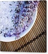 Spa Setting With Lavender Bath Salt Canvas Print
