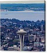 Space Needle 12th Man Seahawks Canvas Print