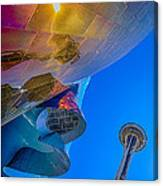 Space Needle And Emp In Perspective Hdr Canvas Print
