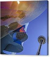 Space Needle And Emp In Perspective Non Hdr Canvas Print