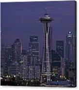 Space Needle At Twilight Canvas Print