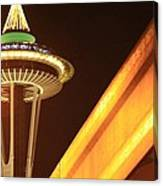 Space Needle Monorail  Canvas Print