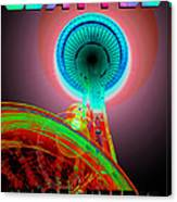 Space Needle Poster Work A Canvas Print