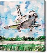 Space Shuttle Landing Canvas Print