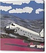 Space Shuttle Landing In The Desert Canvas Print