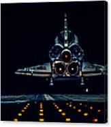 Space Shuttle Night Landing Canvas Print