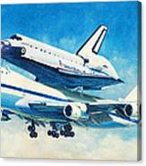 Space Shuttle's Last Flight Canvas Print