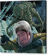 Space Station Monster Canvas Print