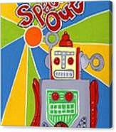 Spaced Out   Toyrobot Canvas Print
