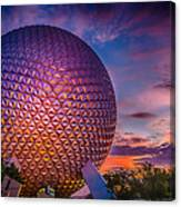Spaceship Earth Glow Canvas Print