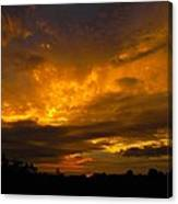 Spacey Sunset Canvas Print
