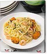 Spaghetti With Sea Food Canvas Print