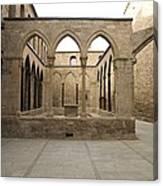 Spain. Cardona. Castle And Collegiate Canvas Print