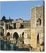 Spain. Catalonia. Gerona. Besal� Canvas Print