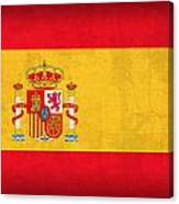 Spain Flag Vintage Distressed Finish Canvas Print