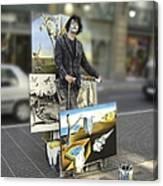 Painter In Spain Series 23 Canvas Print