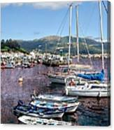 Boats In Spain Series 26 Canvas Print