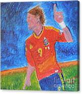 Spain World Soccer Number 1 Canvas Print