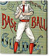 Spalding Baseball Ad 1189 Canvas Print