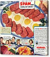 Spam 1960s Usa Hormel Meat Tinned Canvas Print