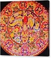 Spanish Bird Plate Canvas Print