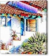 Spanish Bungalow Canvas Print