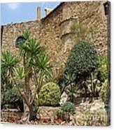 Spanish Church Garden Canvas Print