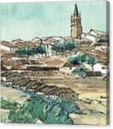 Spanish Church Tower Canvas Print